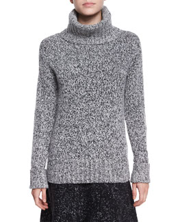 Wyndora Marbal Wool Sweater, Gray