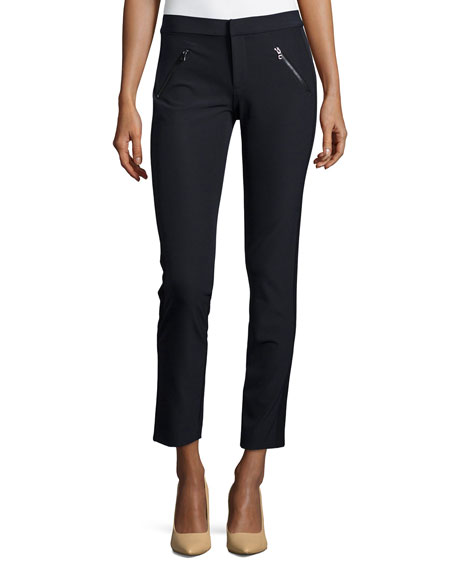 Ava Slim-Leg Techno Pants