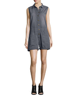 The Moto Shortall Romper, Castle