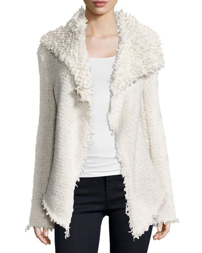 Loop Knit Drapey Jacket, Swan