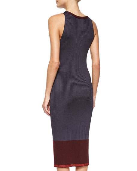 Rag Bone Kristin Ribbed Knit Midi Dress