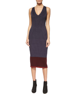 Kristin Ribbed Knit Midi Dress