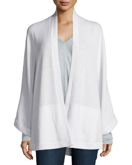 Cashmere Long-Sleeve Open-Front Cape