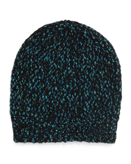 Multicolor Knit Beanie Hat