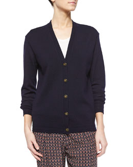 Madison Wool V-Neck Cardigan