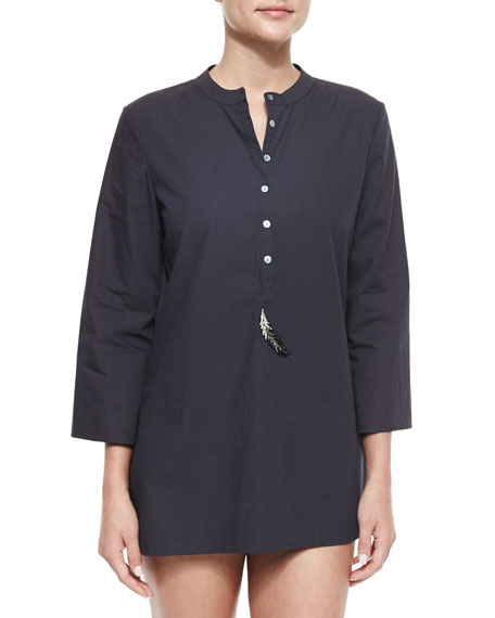 Figue Lisa Embellished Coverup Tunic
