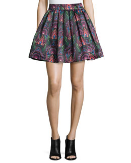 Stora Deco-Print Pleated Skirt