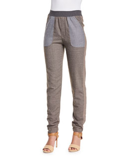 Cool Tailoring Relaxed Pants, Plume