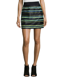 Couture Stripes Mini Skirt
