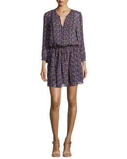 Xyla Geo-Print Crepe Dress