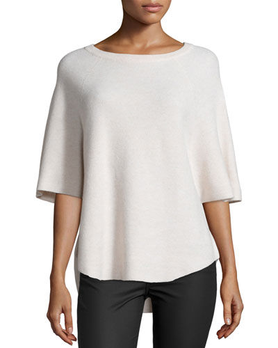 Jolena B Honeycomb-Stitch Sweater