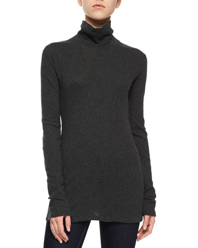 Layering Turtleneck Tee, Charcoal