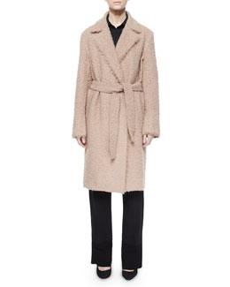 Shaggy Tie-Waist Coat