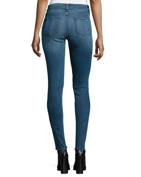 Mid-Rise Skinny Jeans, Clean Euston