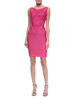 Origami Detailed Sheath Dress