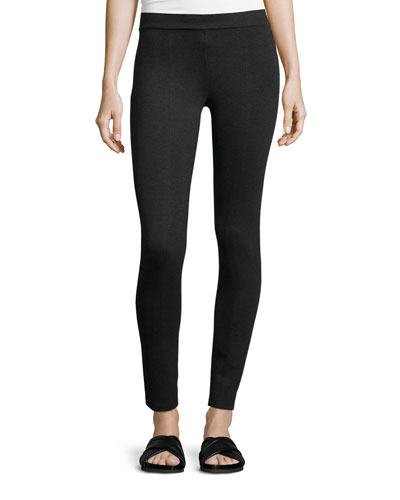 Scrunch Jersey Ankle Leggings, Charcoal