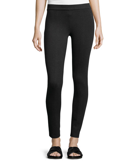 Vince Scrunch Jersey Ankle Leggings, Charcoal