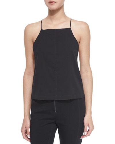 Square-Neck Silk Camisole Top