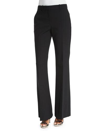 Joanta Faded Wool-Blend Jacket, Black