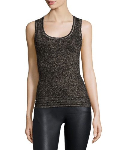 Scoop-Neck Metallic Tank