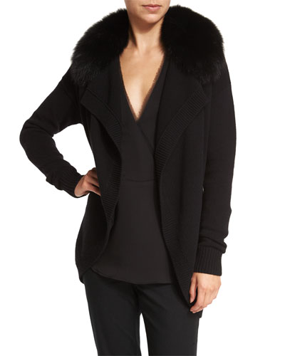 Shurelia Loryelle Cardigan W/ Fur Collar