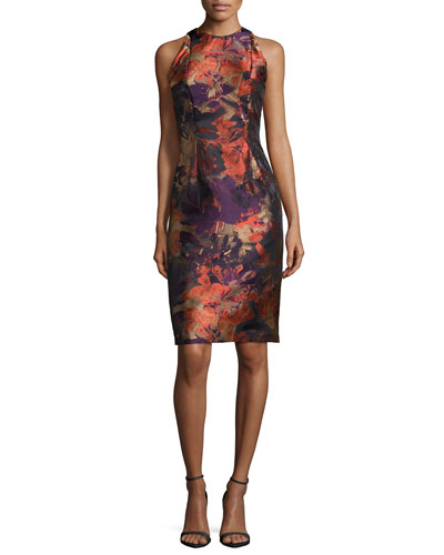 Sleeveless Printed Cocktail Dress
