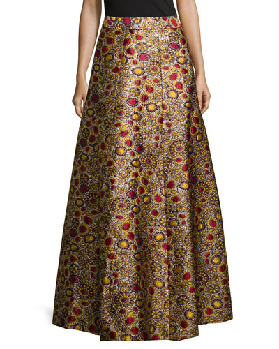 Long Jacquard Ball Skirt