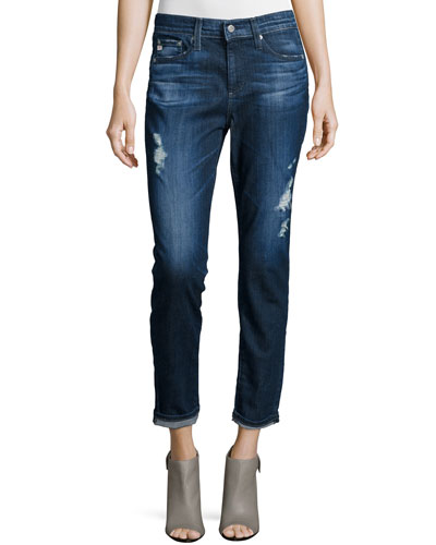Beau Destroyed Cropped Jeans, 7-Years Ripped