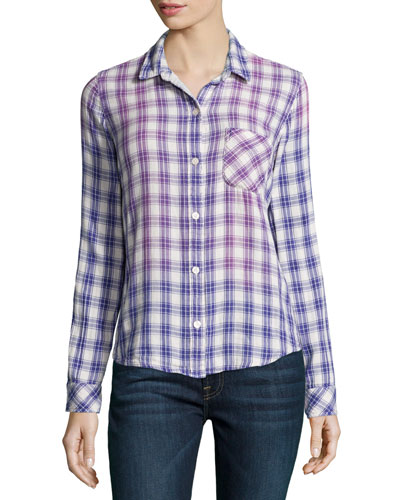The Slim Boy Shirt, Cobalt Field Plaid
