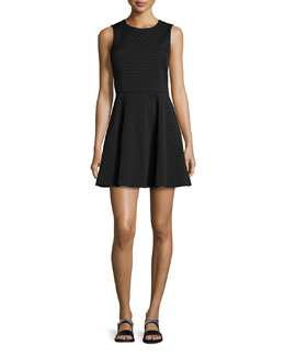 Tillora Textured Fit-and-Flare Dress