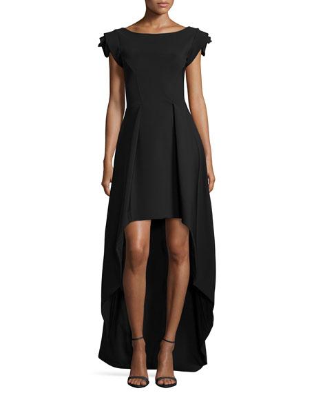 0af8e9cbee1 La Petite Robe di Chiara Boni Dionne Rosette Cap-Sleeve High-Low Dress