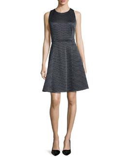 Trekana Printed Sateen Sleeveless Dress