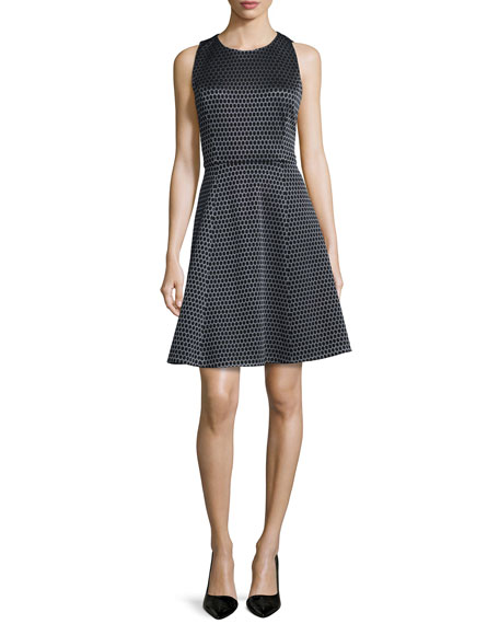 Trekana Printed Sateen Sleeveless Dress