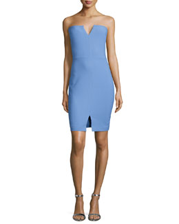 Naveen Strapless Notched Dress