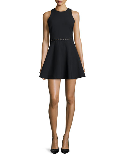Carter Sleeveless Fit-&-Flare Dress, Black