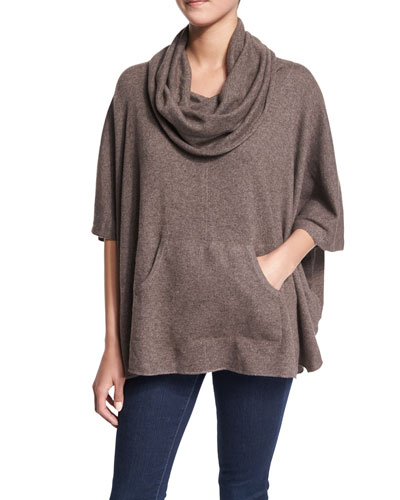 Concorde Cashmere Sweater, Heather Walnut