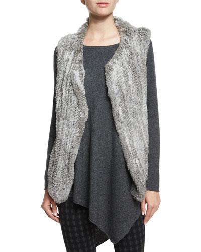 Andoni Rabbit-Fur Vest
