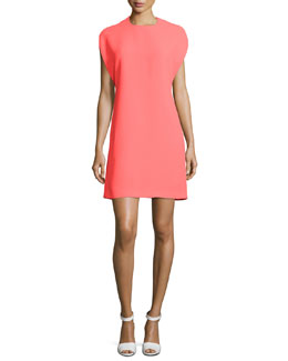 Cape-Sleeve Shift Dress, Reflector