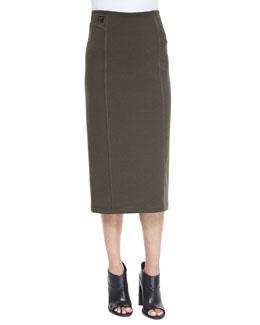 Double-Knit Ponte Skirt, Peridot