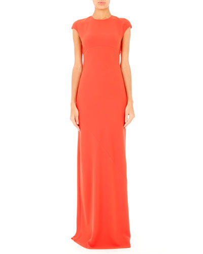 Open-Back Maxi Dress, Flare