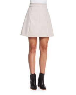 Tulip-Shaped Crepe Skirt