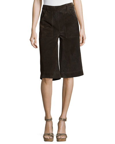 Le Gaucho Cropped Pants, Dark Brown