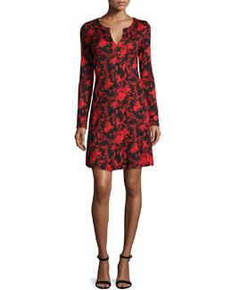 Pixie Silk Floral Daze Long-Sleeve Dress