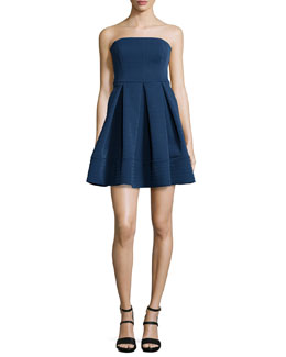 Strapless Fit-and-Flare Cocktail Dress