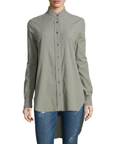 Le Tunic Cotton Shirt, Military