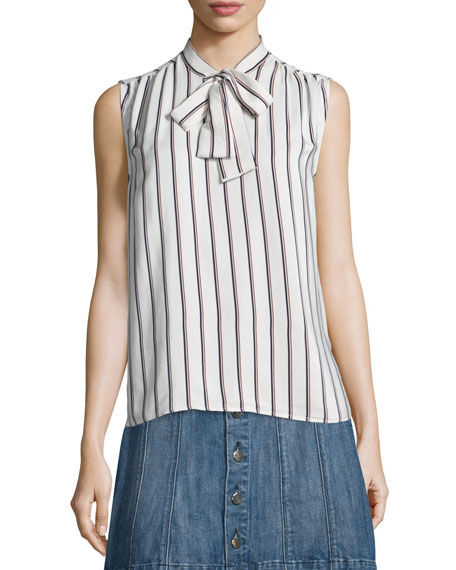 Classic Pleat Shirt, White Pattern