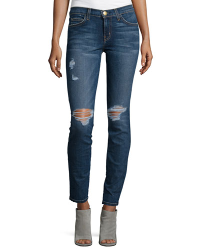 The Ankle Distressed Skinny Jeans, Townie