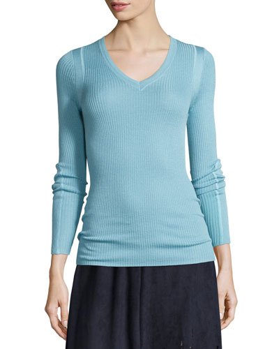 Remmi Long-Sleeve Ribbed Sweater