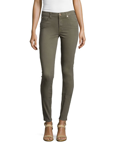 Mid-Rise Skinny Jeans, Fatigue