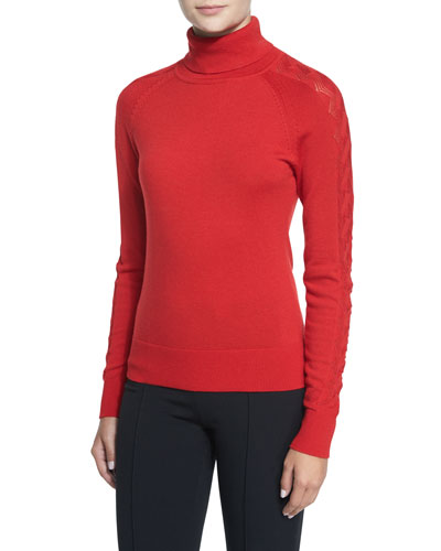 Detailed Long-Sleeve Turtleneck